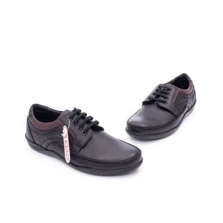 Pantof barbat marca OTTER OT 222 negru1