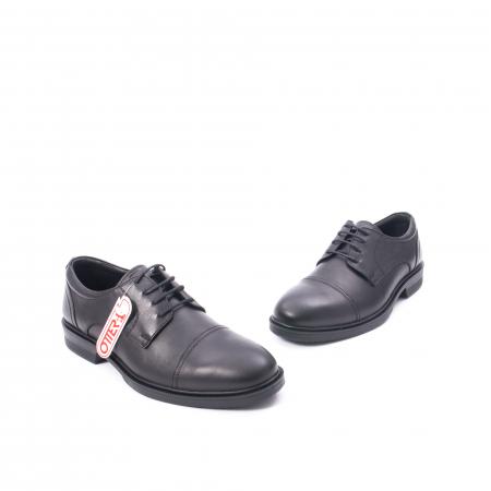 Pantofi barbati piele naturala Otter 5421, negru5