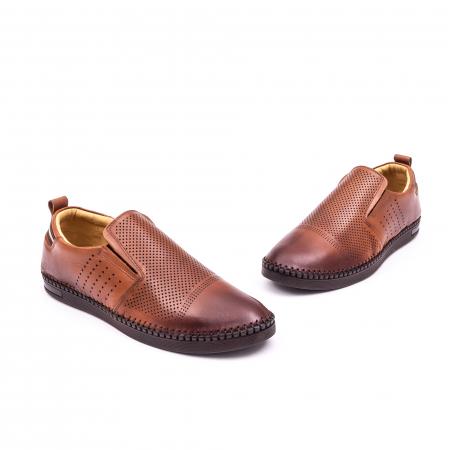 Pantofi barbati casual piele naturala Catali 191543, coniac1
