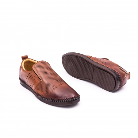 Pantofi barbati casual piele naturala Catali 191543, coniac2