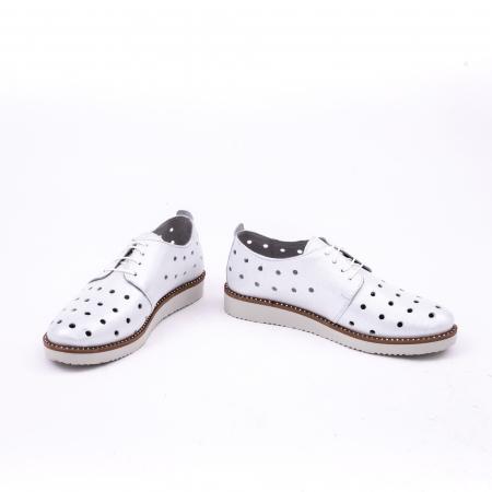 Pantof casual 191640 alb argintiu.4