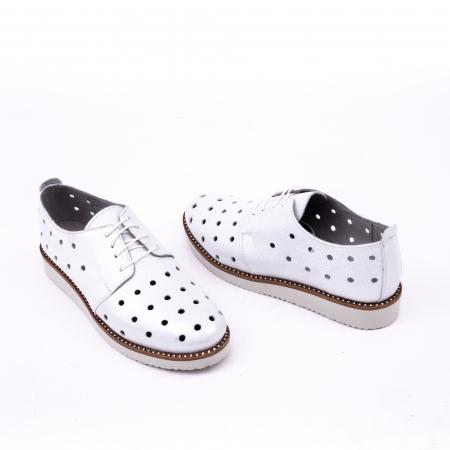 Pantof casual 191640 alb argintiu.3