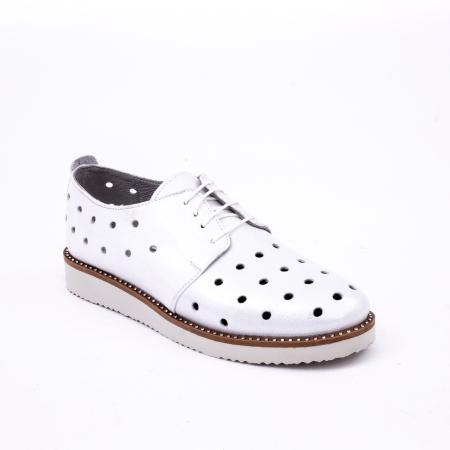 Pantof casual 191640 alb argintiu.0