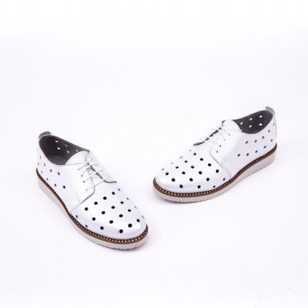 Pantof casual 191640 alb argintiu.1
