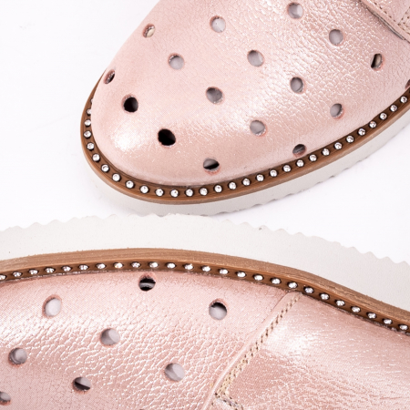 Pantof casual 191640 pudra1