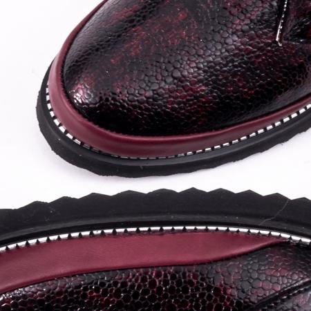 Pantofi casual 191641 bordo1