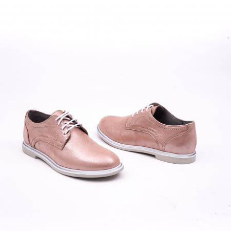 PantofI dama casual piele naturala, Catali-Shoes 191646, pudra3