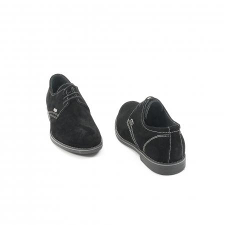 Pantof casual adolescent LFX 578 negru velur2