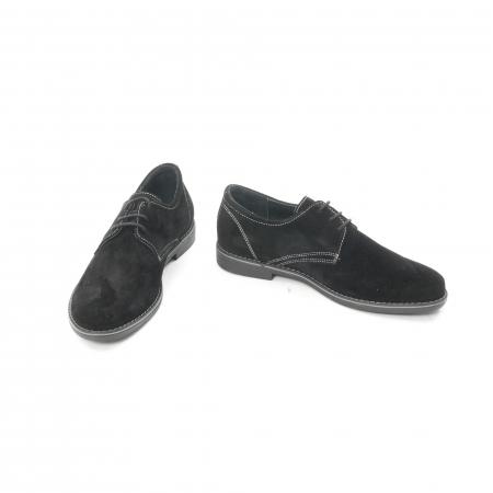 Pantof casual adolescent LFX 578 negru velur4