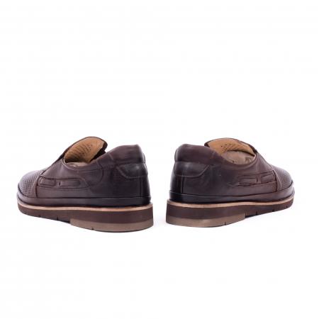 Pantofi barbati casual piele naturala, Catali 191537, maro6