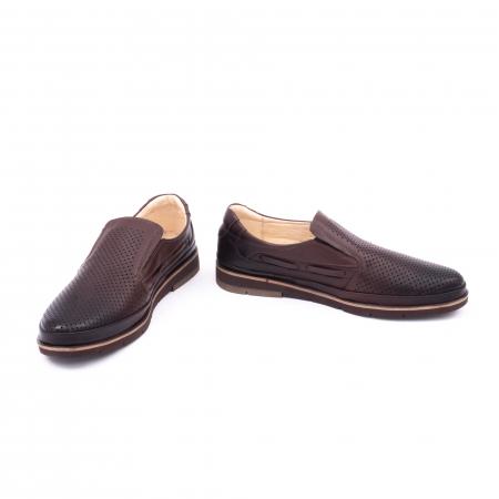 Pantofi barbati casual piele naturala, Catali 191537, maro4