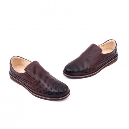 Pantofi barbati casual piele naturala, Catali 191537, maro1