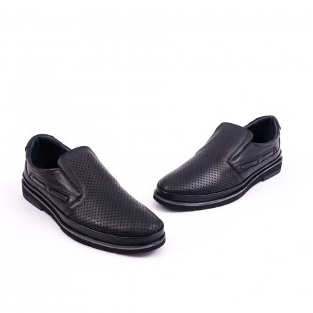 Pantofi barbati casual piele naturala, Catali 191537, negru1