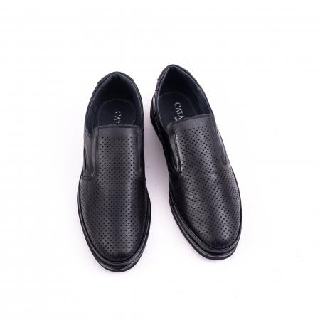 Pantofi barbati casual piele naturala, Catali 191537, negru5