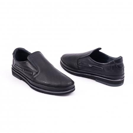 Pantofi barbati casual piele naturala, Catali 191537, negru3
