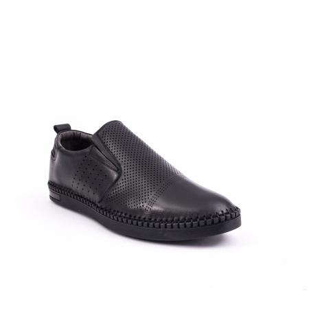 Pantof casual barbat 191543 negru0