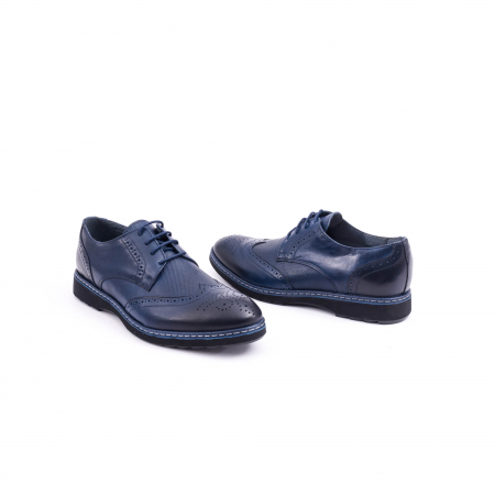 Pantof casual model Oxford CataliShoes 181584CR bleumarin1