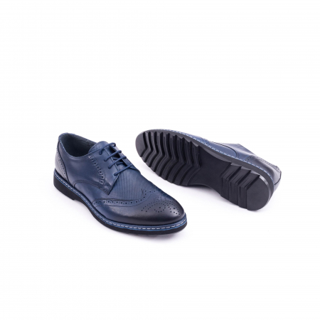 Pantof casual model Oxford CataliShoes 181584CR bleumarin3