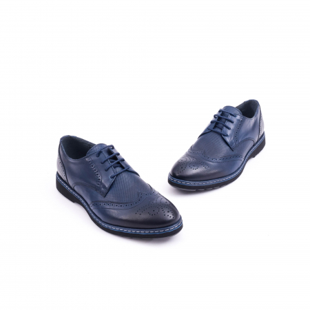 Pantof casual model Oxford CataliShoes 181584CR bleumarin2