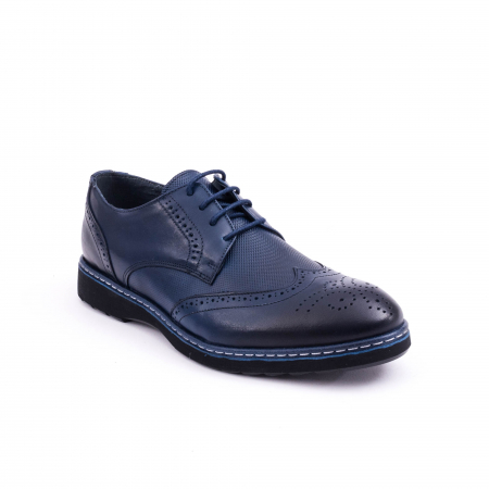 Pantof casual model Oxford CataliShoes 181584CR bleumarin0