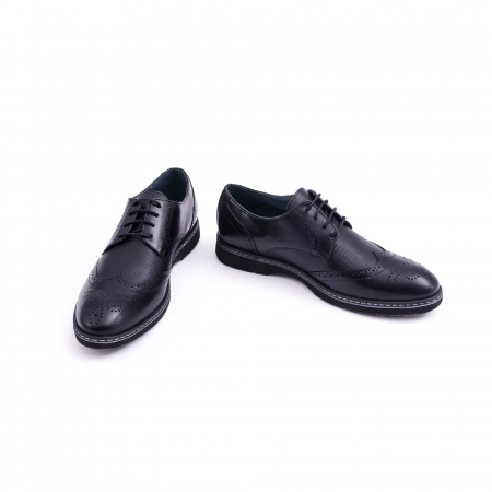 Pantof barbat model Oxford - CataliShoes 181584CR negru4