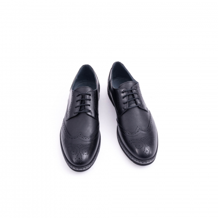 Pantof barbat model Oxford - CataliShoes 181584CR negru5