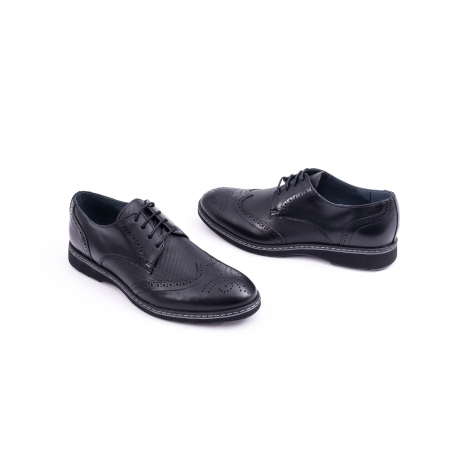 Pantof barbat model Oxford - CataliShoes 181584CR negru1