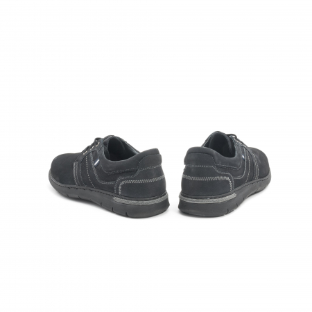 Pantofi barbati casual piele naturala nabuc Leofex 521, negru6