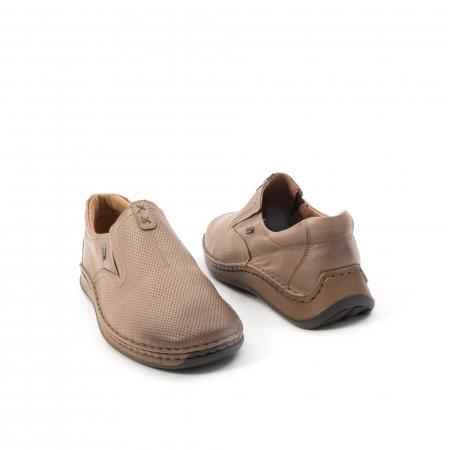 Pantofi barbati casual, piele naturala, Leofex 919, taupe2