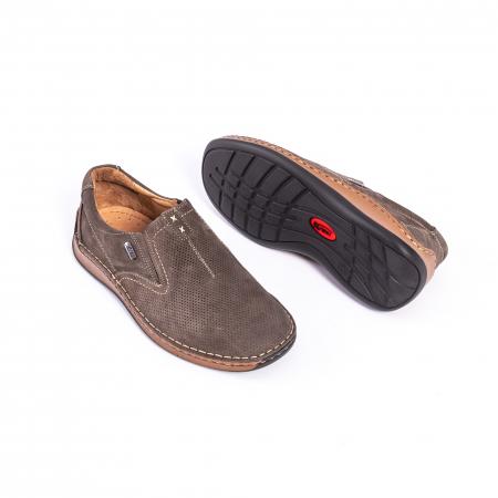 Pantofi barbati casual, piele naturala,Leofex 919, taupe nubuc2