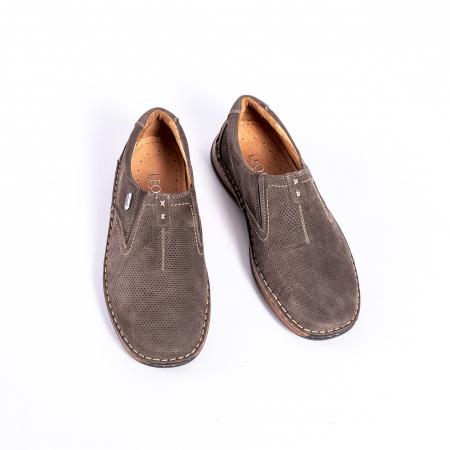 Pantofi barbati casual, piele naturala,Leofex 919, taupe nubuc5