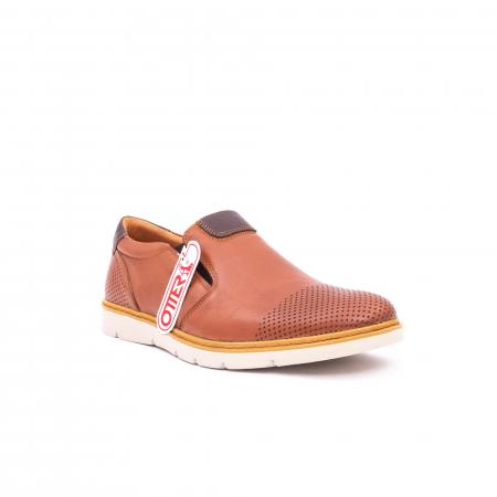 Pantofi casual barbati, piele naturala, OT 5916 coniac [0]