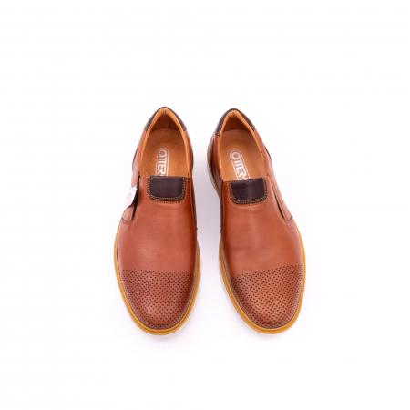 Pantofi casual barbati, piele naturala, OT 5916 coniac [5]