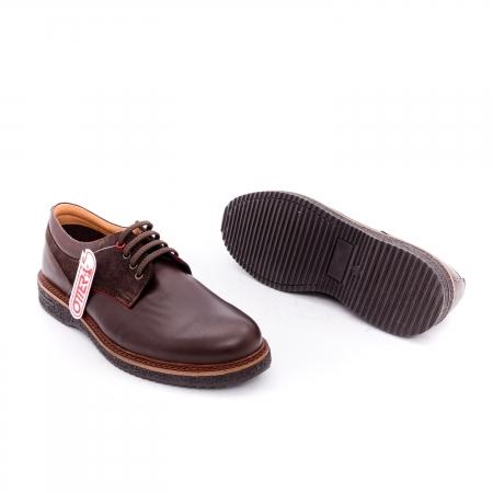 Pantofi barbati casual piele naturala Otter 020 C4 maro1