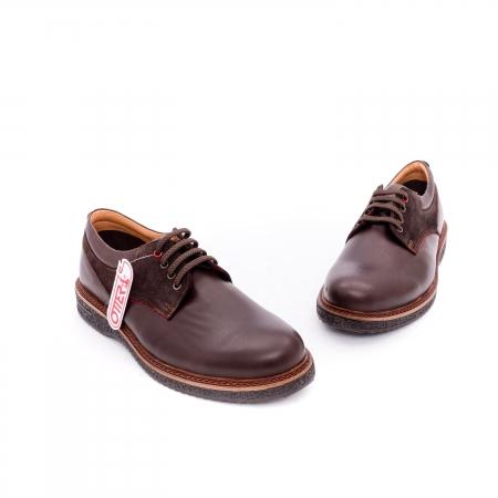 Pantofi barbati casual piele naturala Otter 020 C4 maro4
