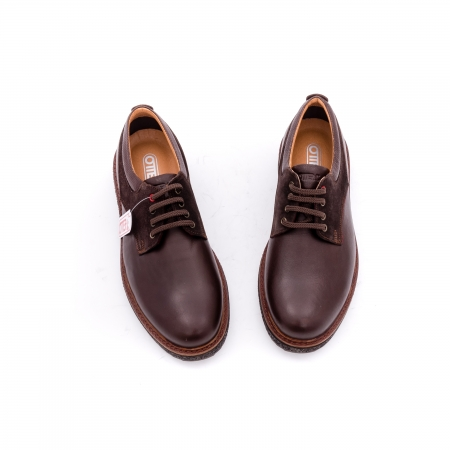 Pantofi barbati casual piele naturala Otter 020 C4 maro3