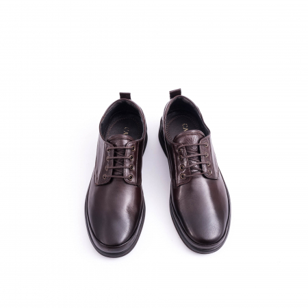 Pantofi barbati casual piele naturala, Catali 182506 star, maro4