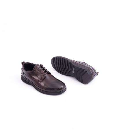 Pantofi barbati casual piele naturala, Catali 182506 star, maro2
