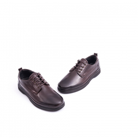 Pantofi barbati casual piele naturala, Catali 182506 star, maro1
