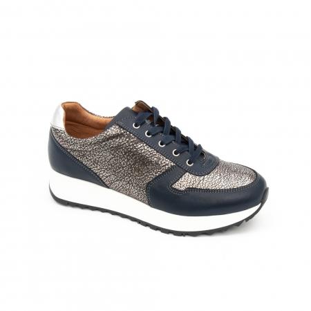 Pantof casual cu siret LFX 101 blue argintiu0