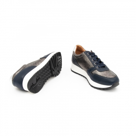 Pantof casual cu siret LFX 101 blue argintiu3