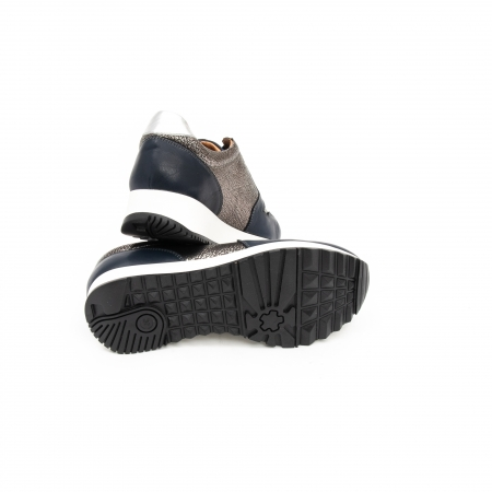 Pantof casual cu siret LFX 101 blue argintiu4