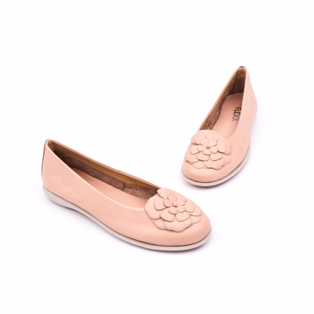 Pantof casual dama B226 pudra1