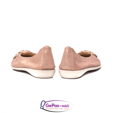 Pantofi casual dama B226 pudra6