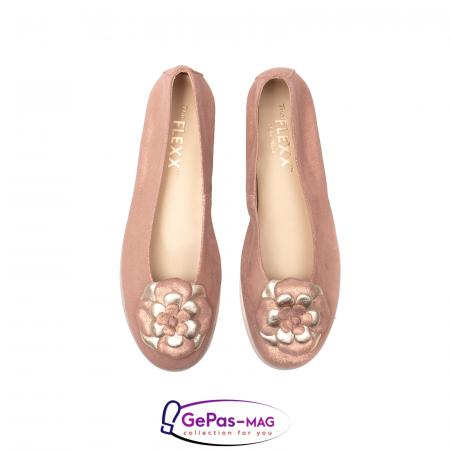 Pantofi casual dama B226 pudra5