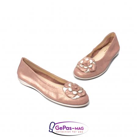 Pantofi casual dama B226 pudra1
