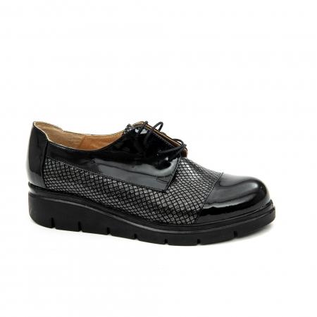 Pantof casual dama ,cod 1129 negru0