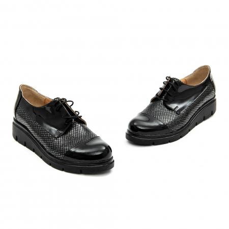 Pantof casual dama ,cod 1129 negru2