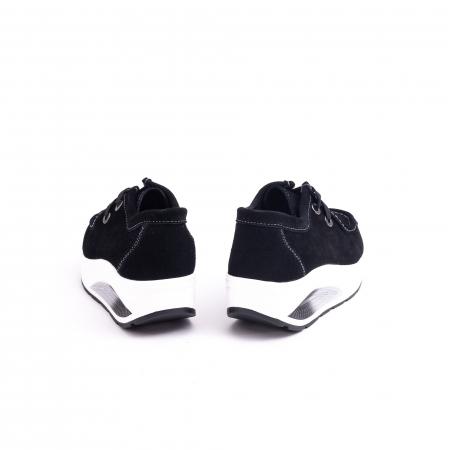 Pantof casual dama F003-1807 black suede6