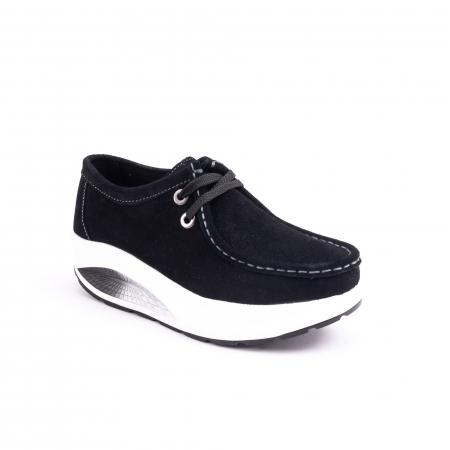 Pantof casual dama F003-1807 black suede0